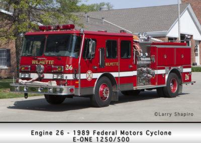 Wilmette Fire Department Engine 26