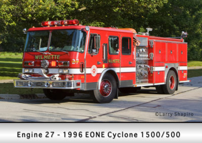 Wilmette Fire Department Engine 27R