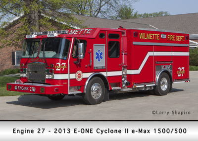 Wilmette Fire Department Engine 27