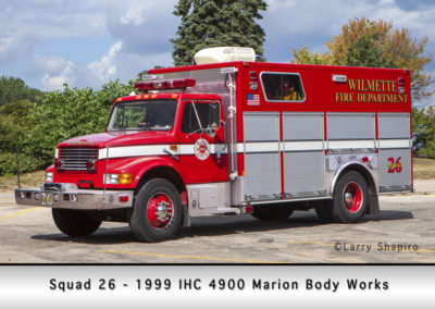 Wilmette Fire Department Squad 26