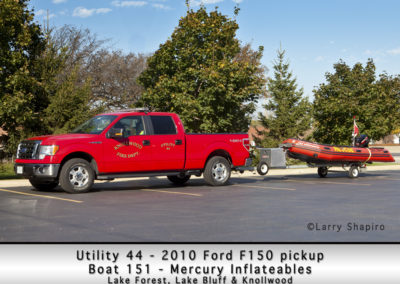 Knollwood FD Utility 44 2010 Ford F150 and Boat 151 - Mercury Inflateables