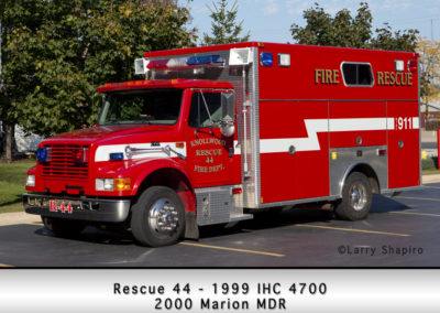 Knollwood FD Rescue 44 1999 IHC 4700 2000 Marion MDR