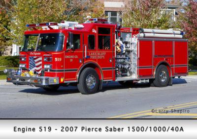 Lake Bluff Engine 519 - 2007 Pierce Saber 1500/1000/40A