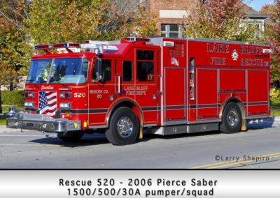 Lake Bluff Rescue 520 - 2006 Pierce Saber 1500/500/30A