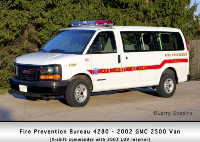 Fire Prevention Bureau - 2002 GMC 2500 van