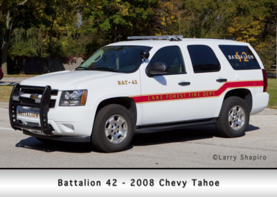 Lake Forest FD Battalion 42 - 2008 Chevy Tahoe