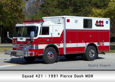 Lake Forest FD Squad 421 - 1991 Pierce Dash