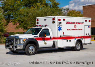 Lincolnshire-Riverwoods FPD Ambulance 51R - 2015 Ford F550/2016 Horton Type I