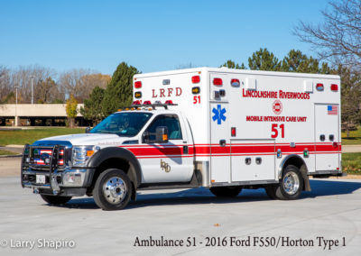 Lincolnshire-Riverwoods FPD Ambulance 51 - 2015 Ford F550/2016 Horton Type I
