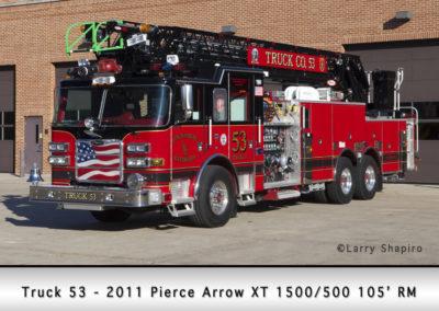 Lincolnshire-Riverwoods FPD Truck 51 - 2011 Pierce Arrow XT 105' Rear mount 1500/500