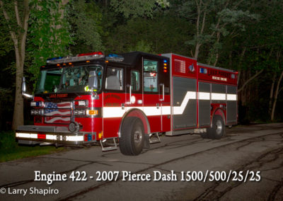 Lake Forest Fire Department Engine 422 - 2007 Pierce Dash 1500-500-25-25