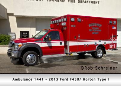 Newport Township FPD Ambulance 1441 - 2013 Ford F450-Horton Type I