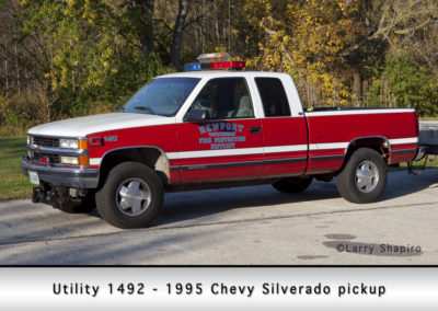 Newport Township FPD Utility 1492 - 1995 Chevy Silverado pickup