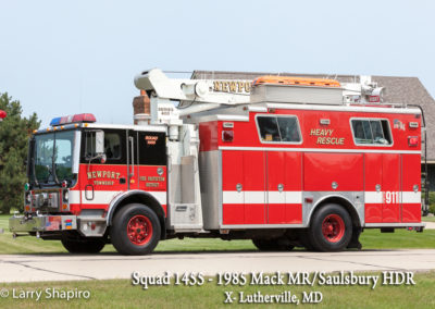 Newport Township FPD Squad 1455 - 1985 Mack MR-Saulsbury HDR (X-Lutherville, MD)