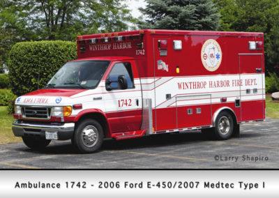 Winthrop Harbor Ambulance 1742 - 2006 Ford E450/2007 Medtec Type I