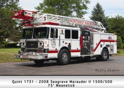 Winthrop Harbor Quint 1731- 2008 Seagrave Marauder II 1500/500 75' 'Meanstick'