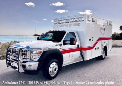 Winthrop Harbor Ambulance 1741 - 2016 Ford F450/Horton Type I