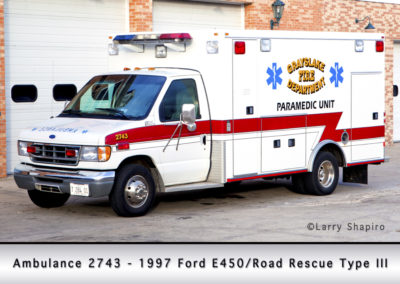 Grayslake FPD Ambulance 2743 - 1997 Ford E450/Road Rescue Type III