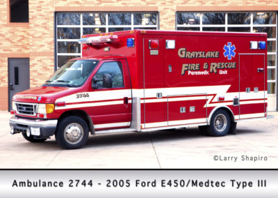 Grayslake FPD Ambulance 2744 - 2005 Ford E450/Medtec Type III