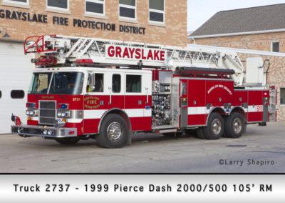 Grayslake FD Truck 2737 - 1999 - Pierce Dash 2000/500 105' RM