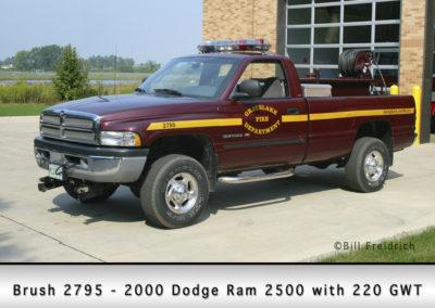 Grayslake FD Brush 2795 - 2000 Dodge Ran 2500 with 220 GWT