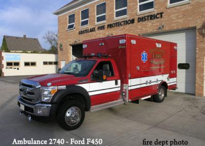 Grayslake FD Ambulance 2740 - Ford F450 Type I