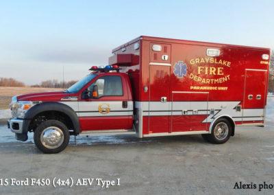 Grayslake FPD Ambulance 2745 - 2015 Ford F450 (4x4) AEV Type I